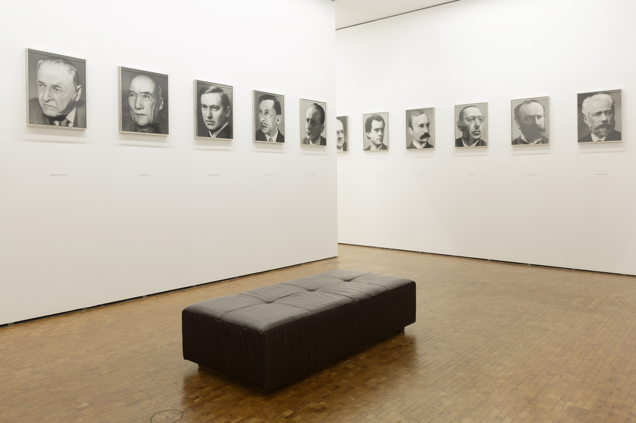 Gerhard Richter, 48 Porträts (48 Portraits), Installation view, Museum Ludwig Cologne, 2017