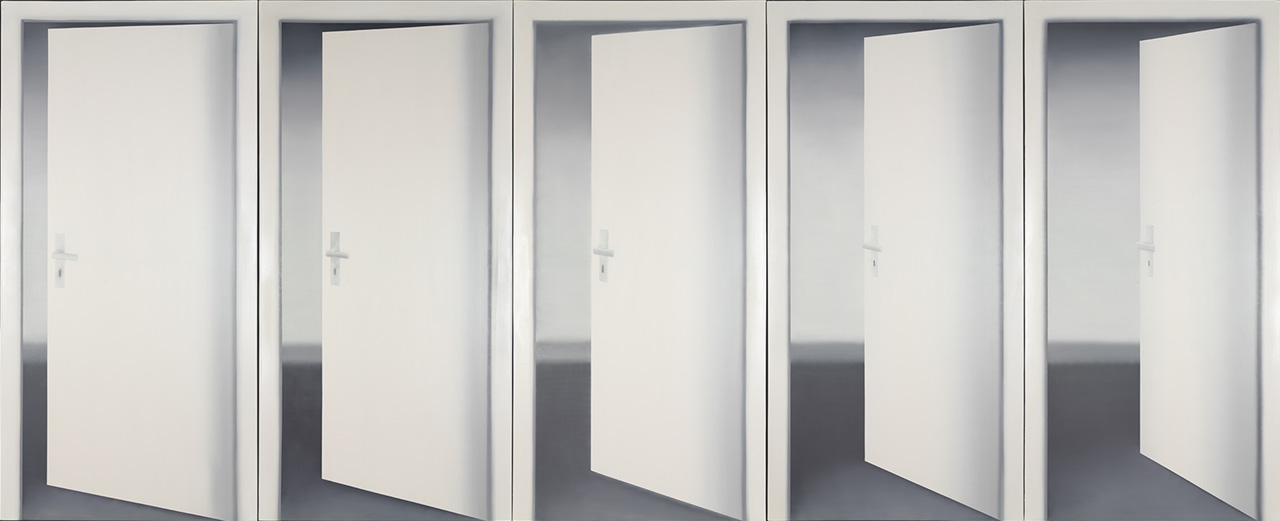 Gerhard Richter, Fünf Türen (Five Doors), 1967, Oil on canvas, 235 x 550 cm