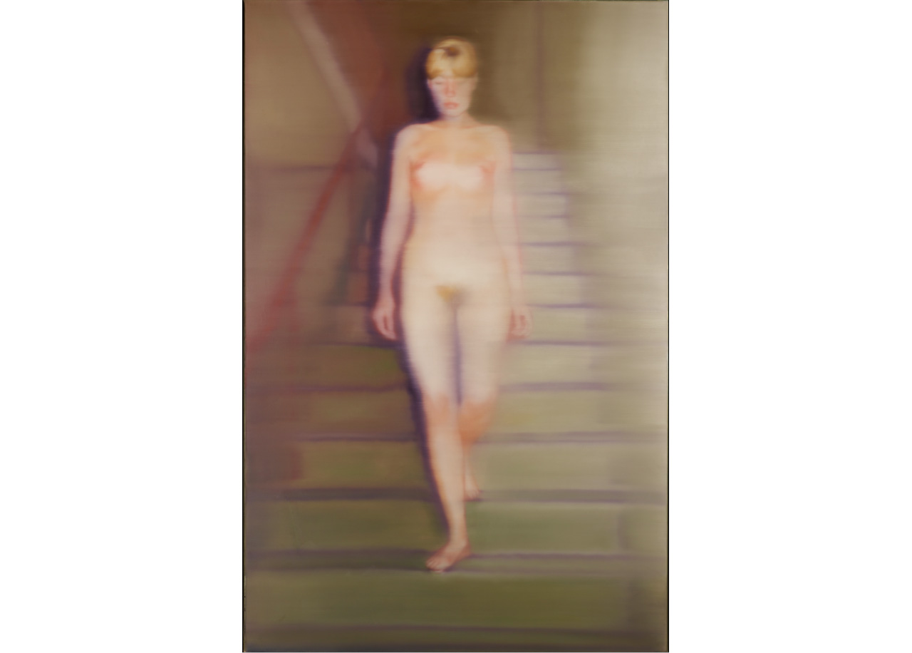 Gerhard Richter, Ema (Akt auf einer Treppe), Ema (Nude on a Staircase), 1966, Oil on canvas, 200 x 130 cm