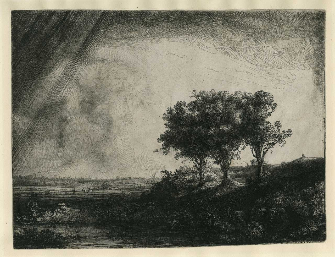 Rembrandt Harmenszoon van Rijn, The Three Trees, 1643