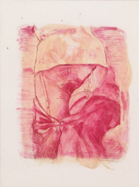 Martin Kippenberger, Vorne, 1996, aquatint, etching