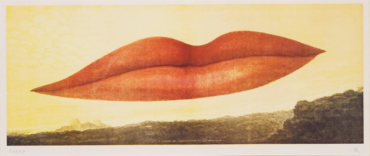Man Ray, A l'Heure de l'observatoire – les amoureux (Observatory Time – the Lovers), 1932. Image: © Christie's, London
