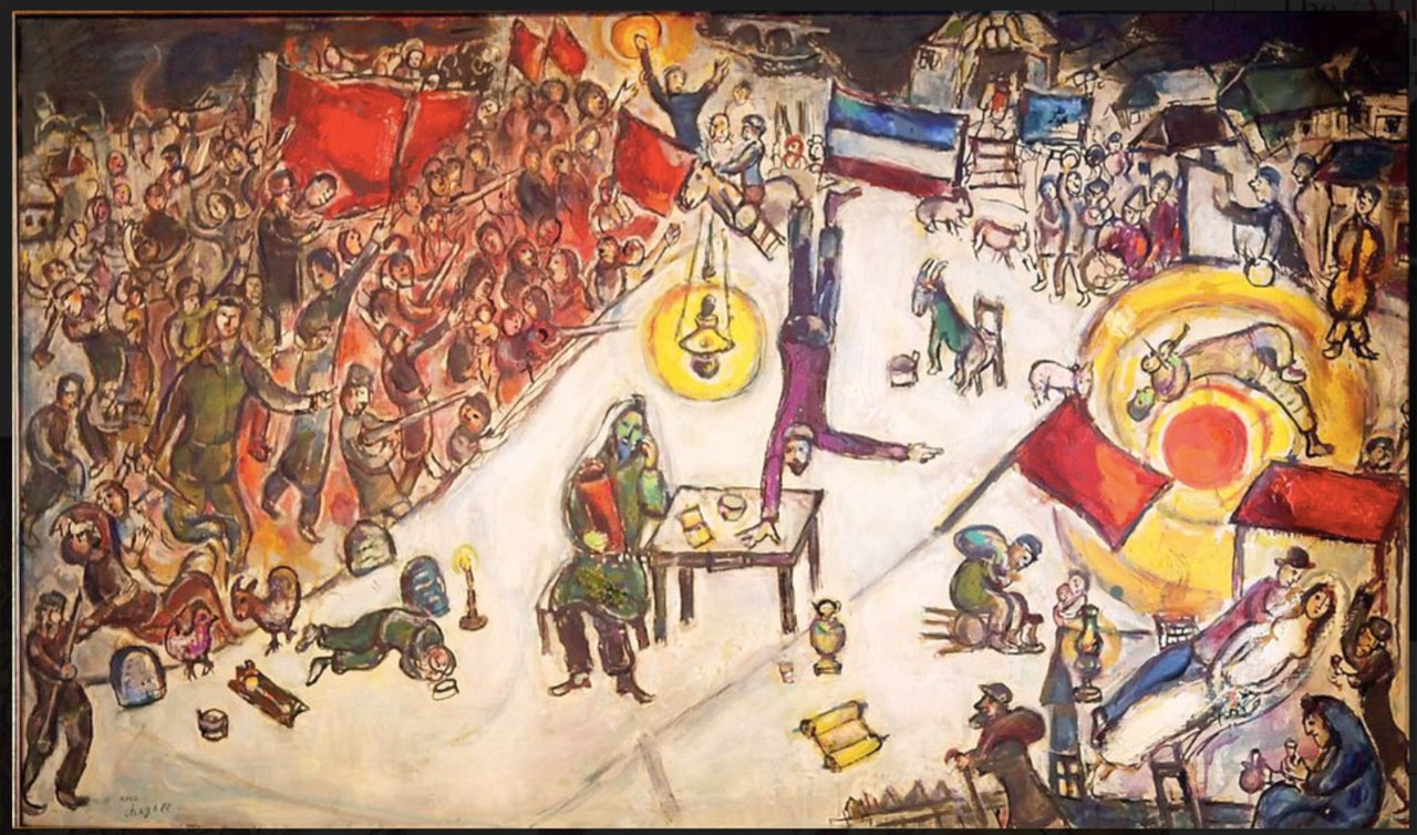 Marc Chagall's, La Revolución, also caught up in a money laundering scandal of the London-based dealer, Matthew Green