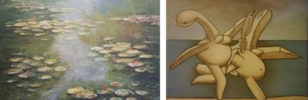 Left: The fake Claude Monet. Right: The fake Pablo Picasso
