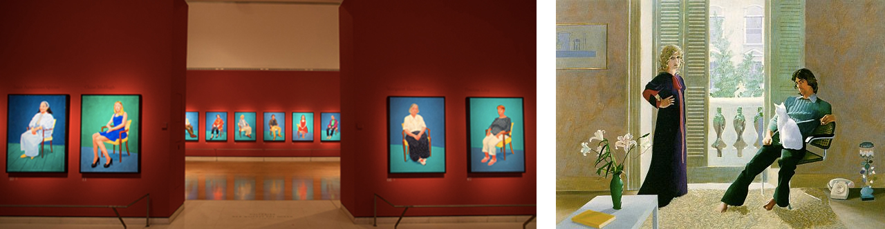 David Hockney's Royal Academy of Art, Right: David Hockney, Mr and Mrs Clark and Percy, Oil on canvas, 1971