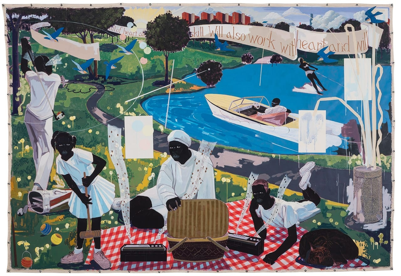 Kerry James Marshall, Past Times, 1997. © Kerry James Marshall. Courtesy of Sotheby's