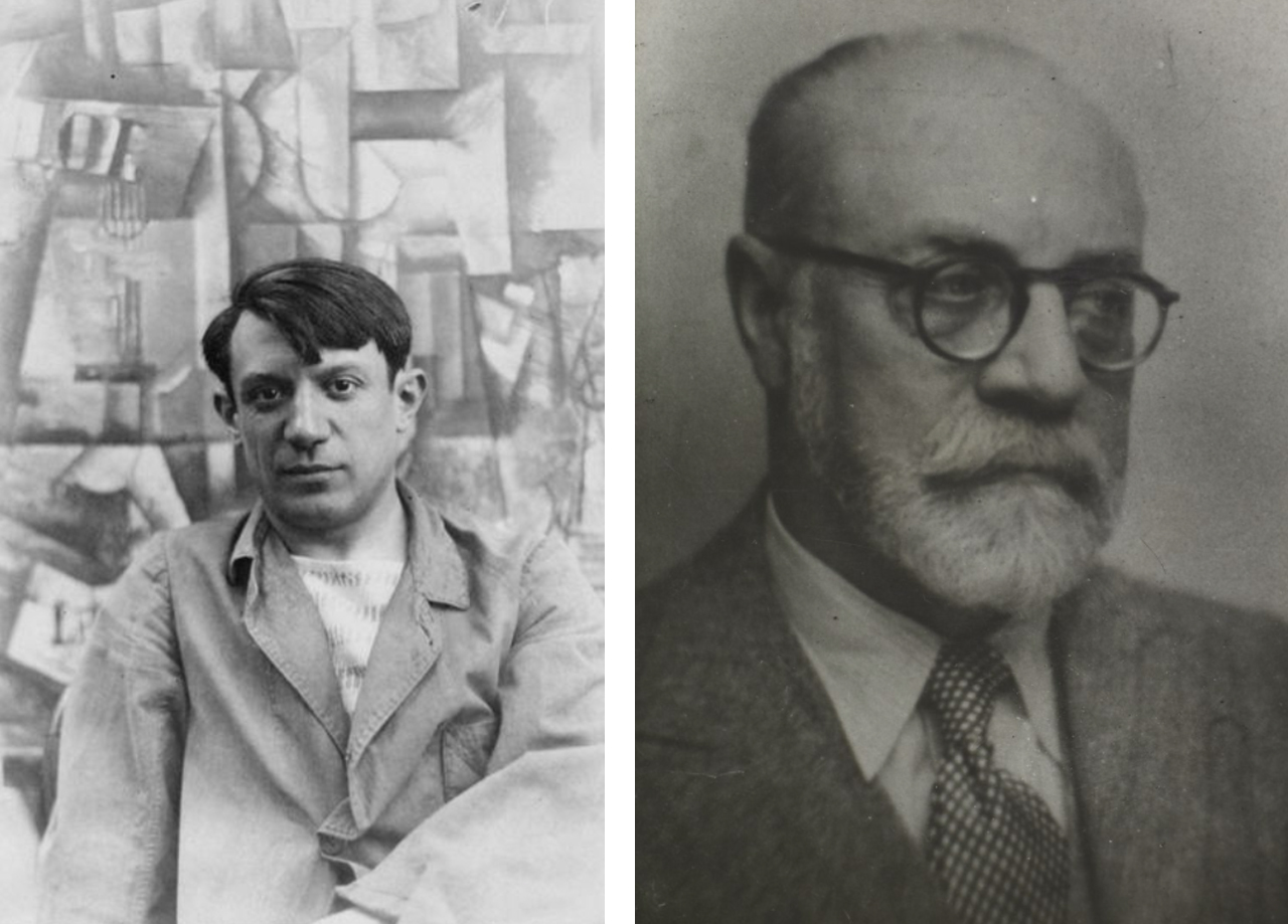 Pablo Picasso and Henri Matisse. Images: via Wikimedia Commons