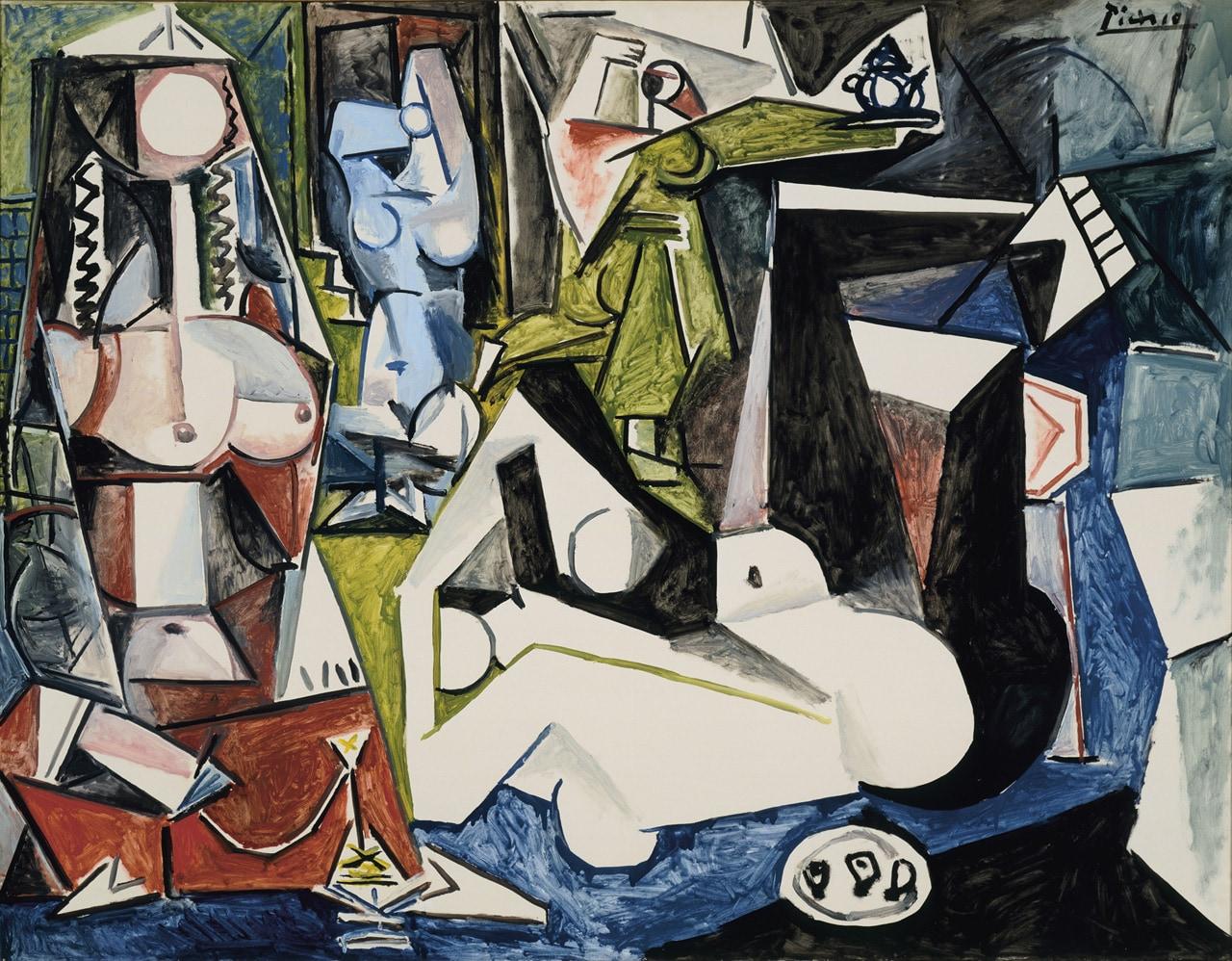 Pablo Picasso, Les Femmes d'Alger (Version N), 1955. Mildred Lane Kemper Art Museum, Washington University St. Louis. University purchase, 1960. Image: VG Bild-Kunst, Bonn 2021