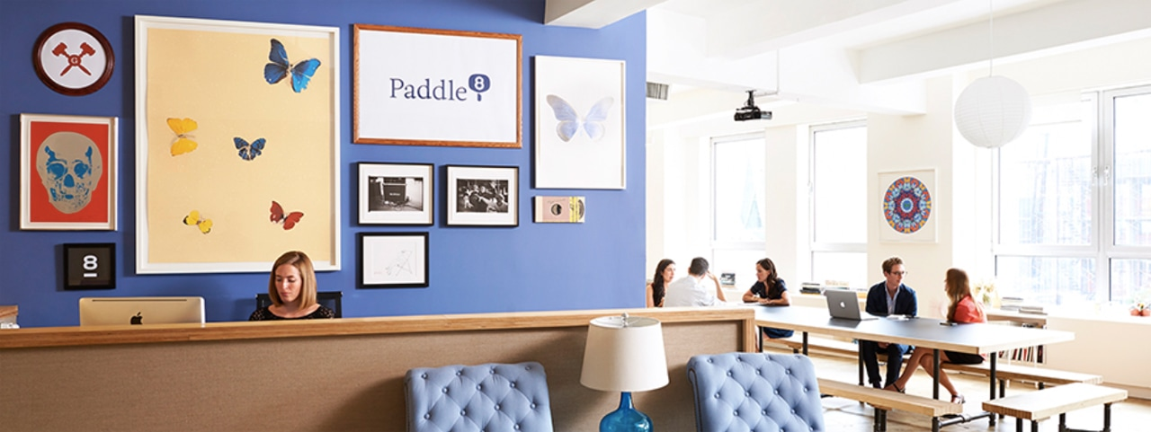The New York offices of Paddle8. Image: Courtesy of Paddle8