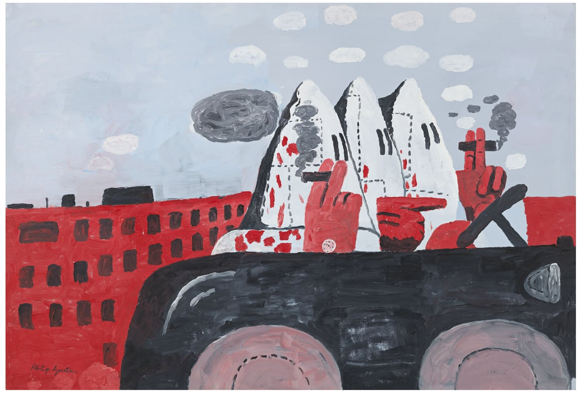 Philip Guston, Riding Around, 1969, Oil on canvas, © The Estate of Philip Guston. Courtesy Hauser & Wirth. Private Collection Photo: Genevieve Hanson