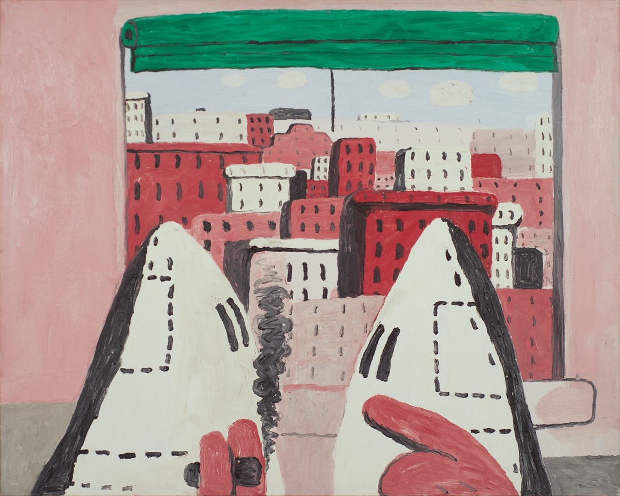 Philip Guston, Open Window II, 1969. Oil on panel. © The Estate of Philip Guston. Courtesy Hauser & Wirth. Private Collection