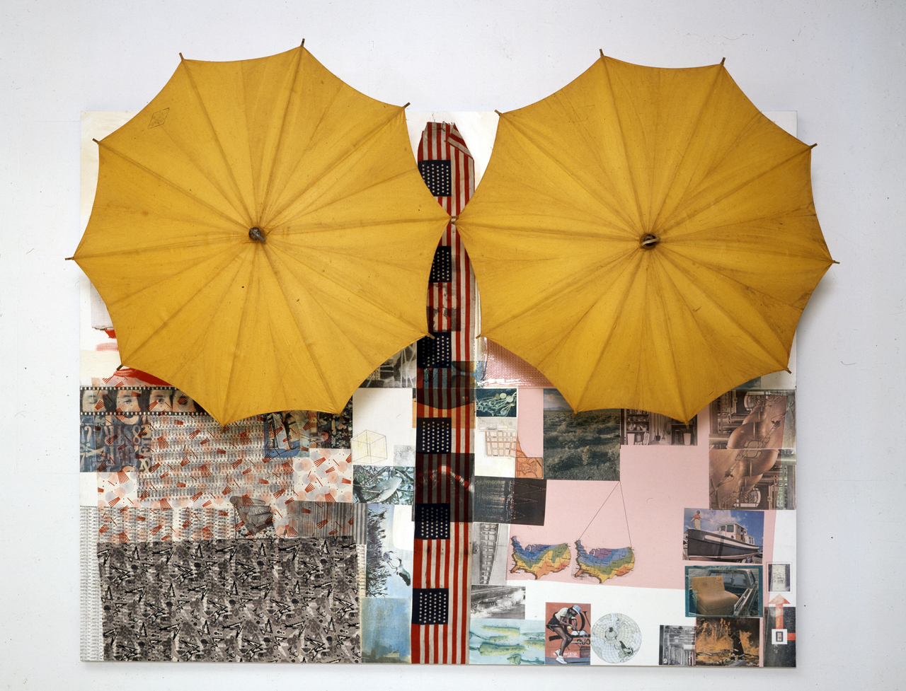Robert Rauschenberg, Untitled (Spread), 1983, Solvent transfer with umbrellas