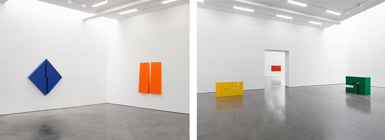 Installation views of Carmen Herrera: Estructuras, Lisson Gallery, New York, 2018.