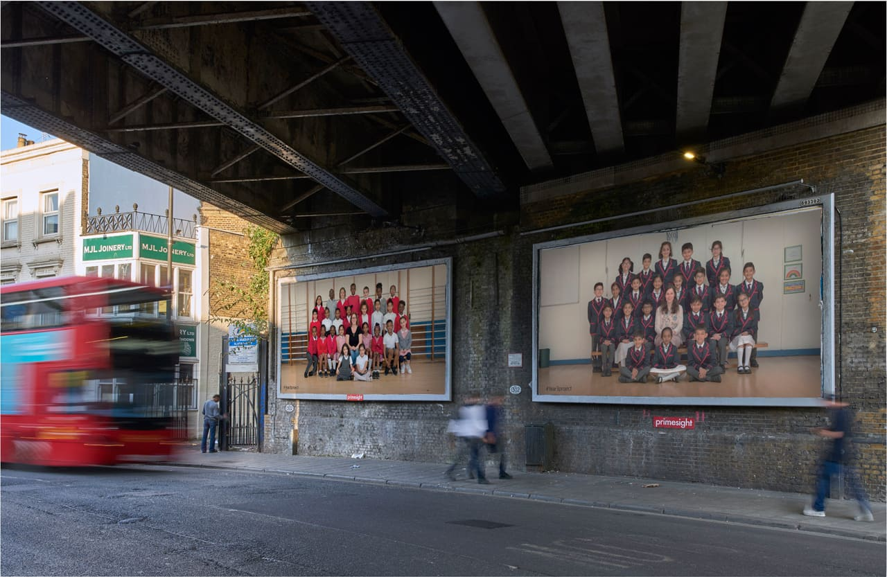 Steve McQueen, Year 3. Billboards at Coldharbour Lane, London. Image: Theo Christelis