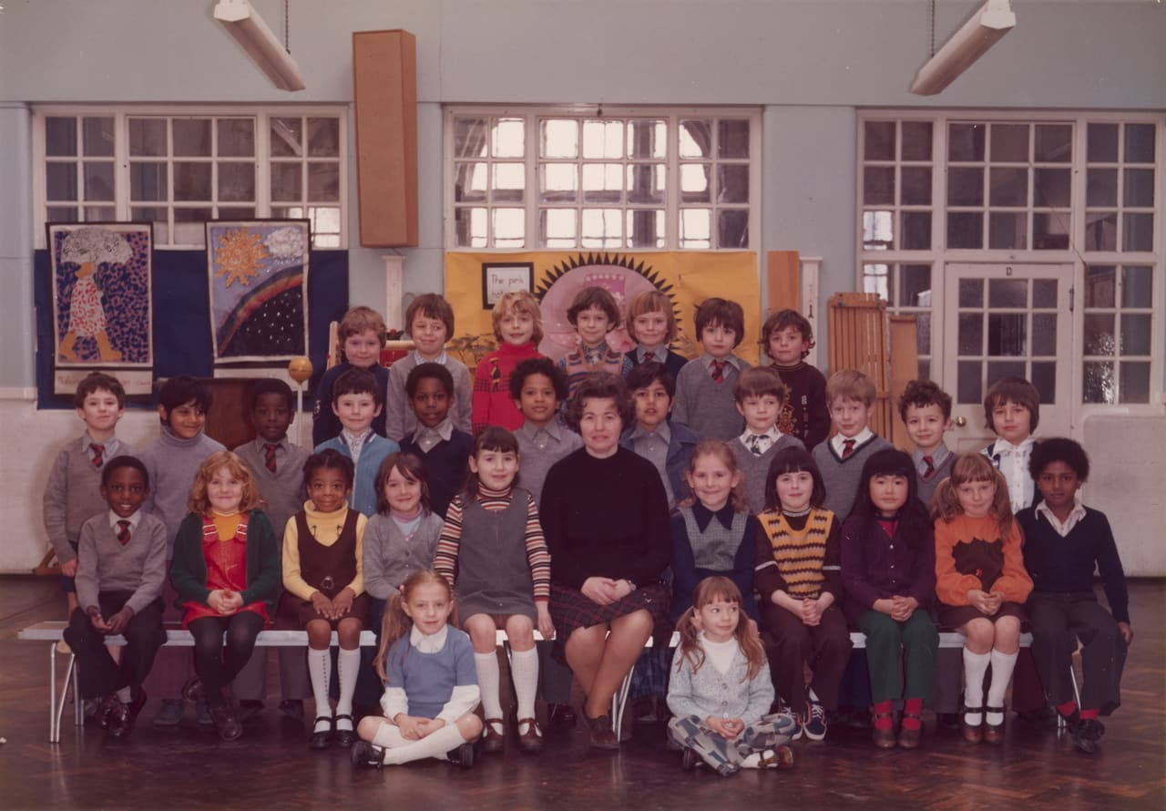 Steve McQueen, Year 3, Class at Little Ealing Primary School, 1977
