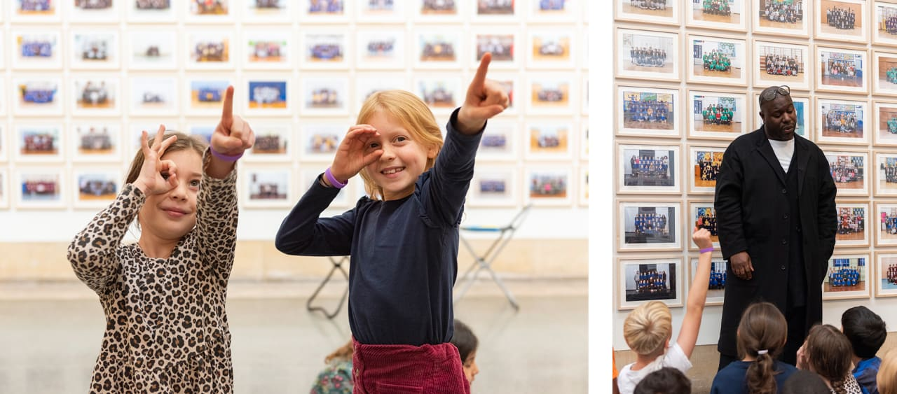 Pupils from Little Ealing Primary visiting Steve McQueen at Tate Britain. Images: © Tate