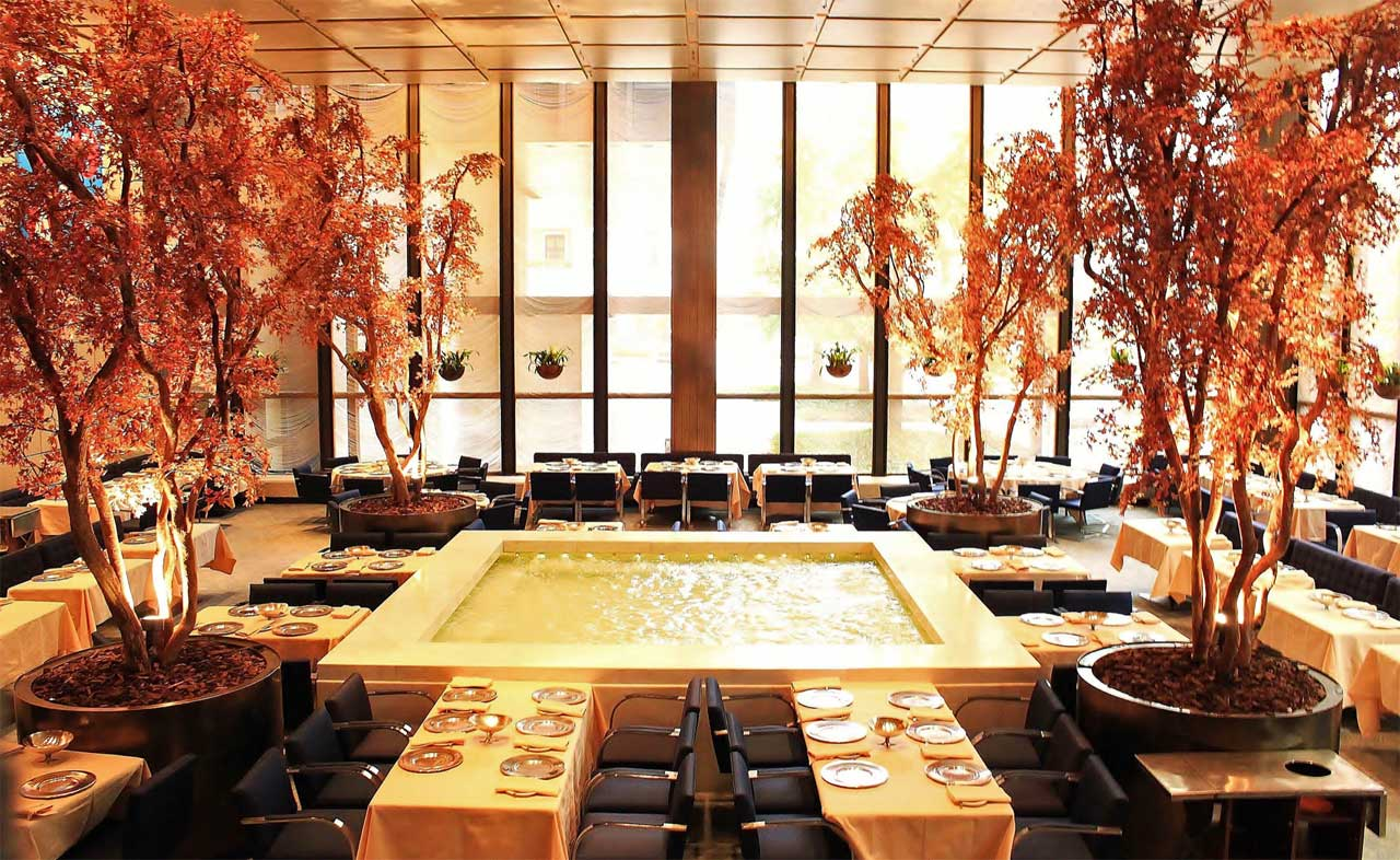 The Pool Room designed by Philip Johnson. Located in The Four Seasons