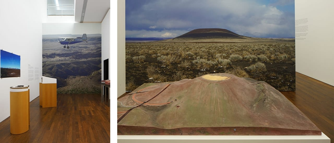 Left: James Turrell, Modell Roden Crater. Right: James Turrell, Roden Crater. Photos: Florian Holzherr. © James Turrell