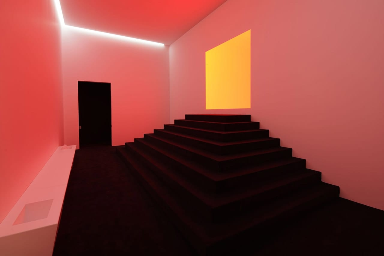 Installation view of James Turrell: The Substance of Light, Ganzfeld Apani (Entrance Space), Museum Frieder Burda, Baden-Baden, 2018. Photo: Florian Holzherr. Courtesy of Museum Frieder Burda. © James Turrell