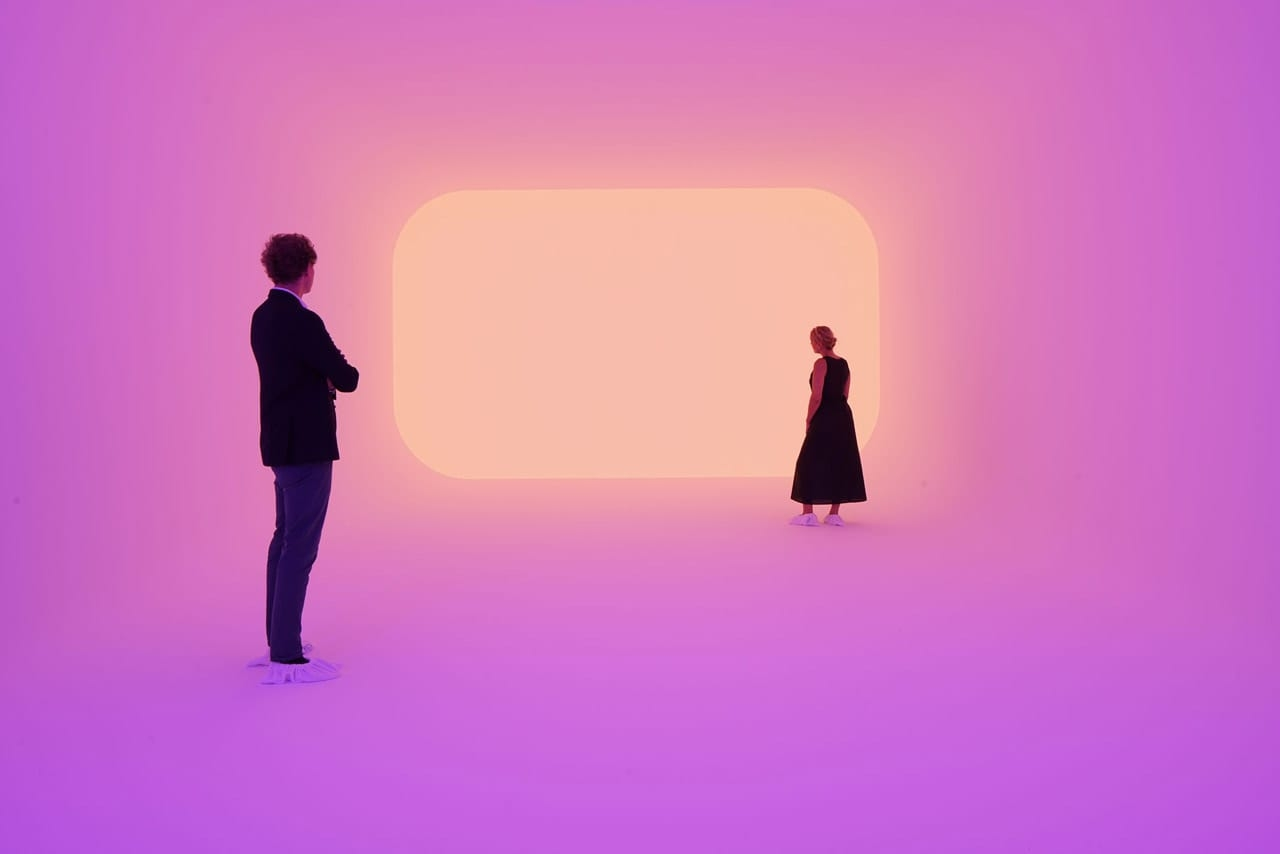Installation view of James Turrell: The Substance of Light, Ganzfeld Apani, Museum Frieder Burda, Baden-Baden, 2018. Photo: Florian Holzherr. Courtesy of Museum Frieder Burda. © James Turrell
