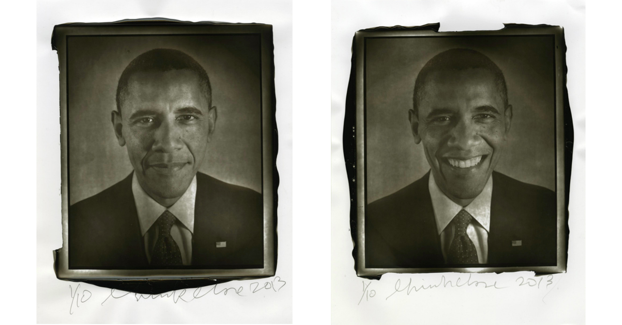 Chuck Close, Obama, 2013, Woodburytype and Chuck Close, Obama, 2013, Woodburytype
