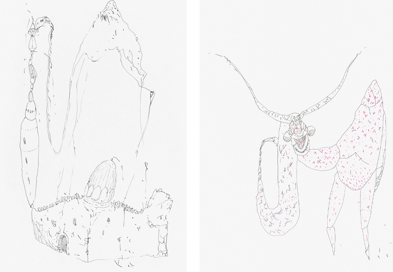 Left: Wael Shawky, Untitled, 2014, Silkscreen. Right: Wael Shawky, Untitled, 2014, Silkscreen, From a Portfolio of 12
